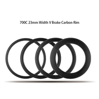 23mm V Brake 700c Carbon Rims For Road Bike Cyclocross Gravel Bicycle Taiwan Ruote Clincher Tubular Tubeless available