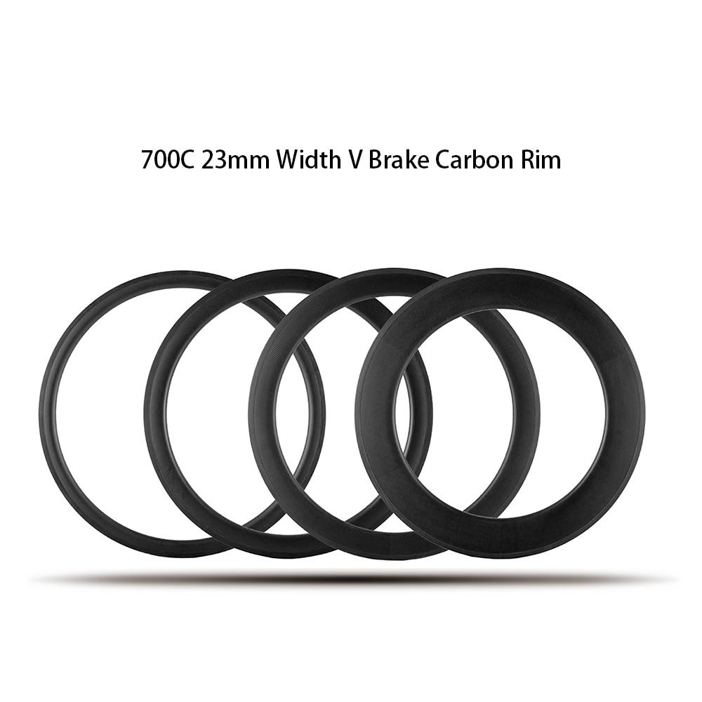 70b52b85d 23mm V Freio Cyclocross 700c Jantes De Carbono Para Bicicleta de Estrada de  Cascalho Taiwan Bicicleta Ruote Tubeless Clincher Tubular disponível