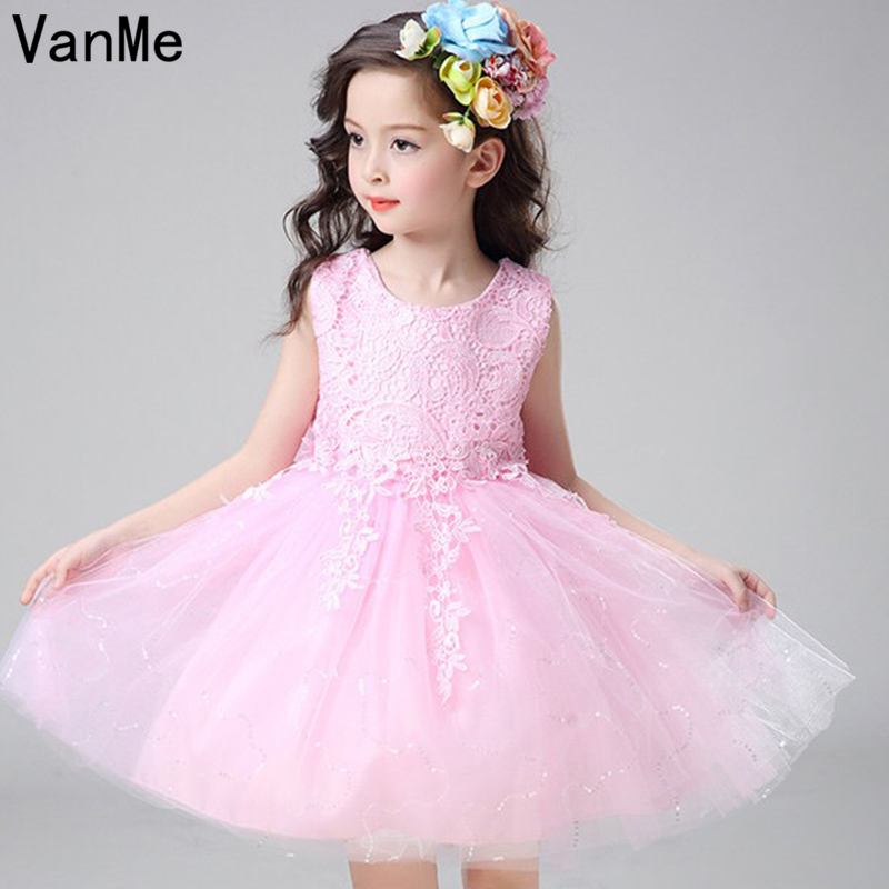Mannp Brand Girls Ball Gown Princess Dress O Neck Lace Children Kids Birthday Outfits Dresses Evening Party Formal Wear#V-101 girls long formal dress 2017 flower girls princess dresses kids lace vintage evening party ball gown children s wedding dress