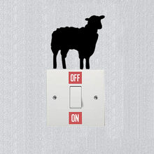 Removable Personality Lamb Sheep Vinyl Sticker Decal Wall Switch Decoration 3SS0117(China)