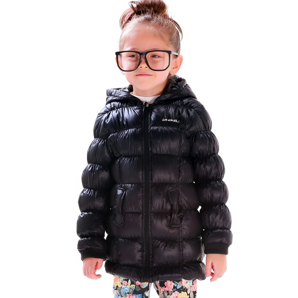 Girls Black Puffer Coat