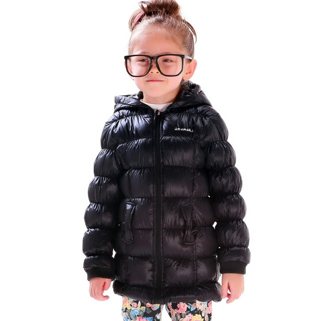 11abd10f3885 Little Girls Winter Long Down Coat Jackets Fashion Children Light ...