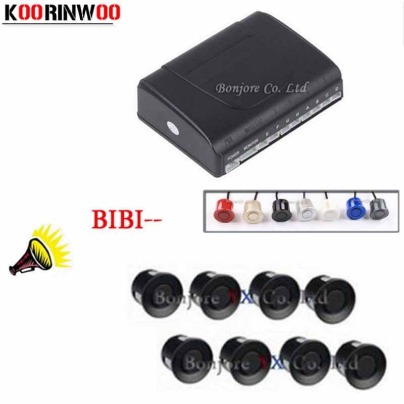 Koorinwoo Car Parking Sensors 8 Radars Parking System Alarm Speaker Parking Assist Car Accessories Parktronic Auto Sound Speaker
