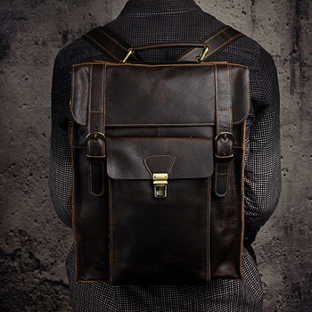 Real Leather Casual Fashion Backpack