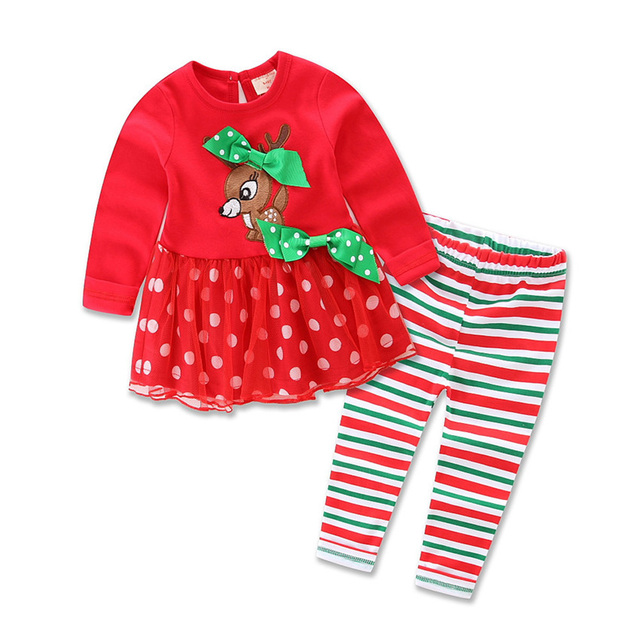 SMHONG Children Christmas Stripes Cotton Pajama Sets Baby Boy Girl  Nightwear Pajamas Sleepwear Deer tutu Outfits Clothes 51880e88e