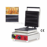 Electric Lolly Waffle Machine Commercial Lolly Waffle Maker 1500W Stainless Steel Snack Machine 4 Molds 501