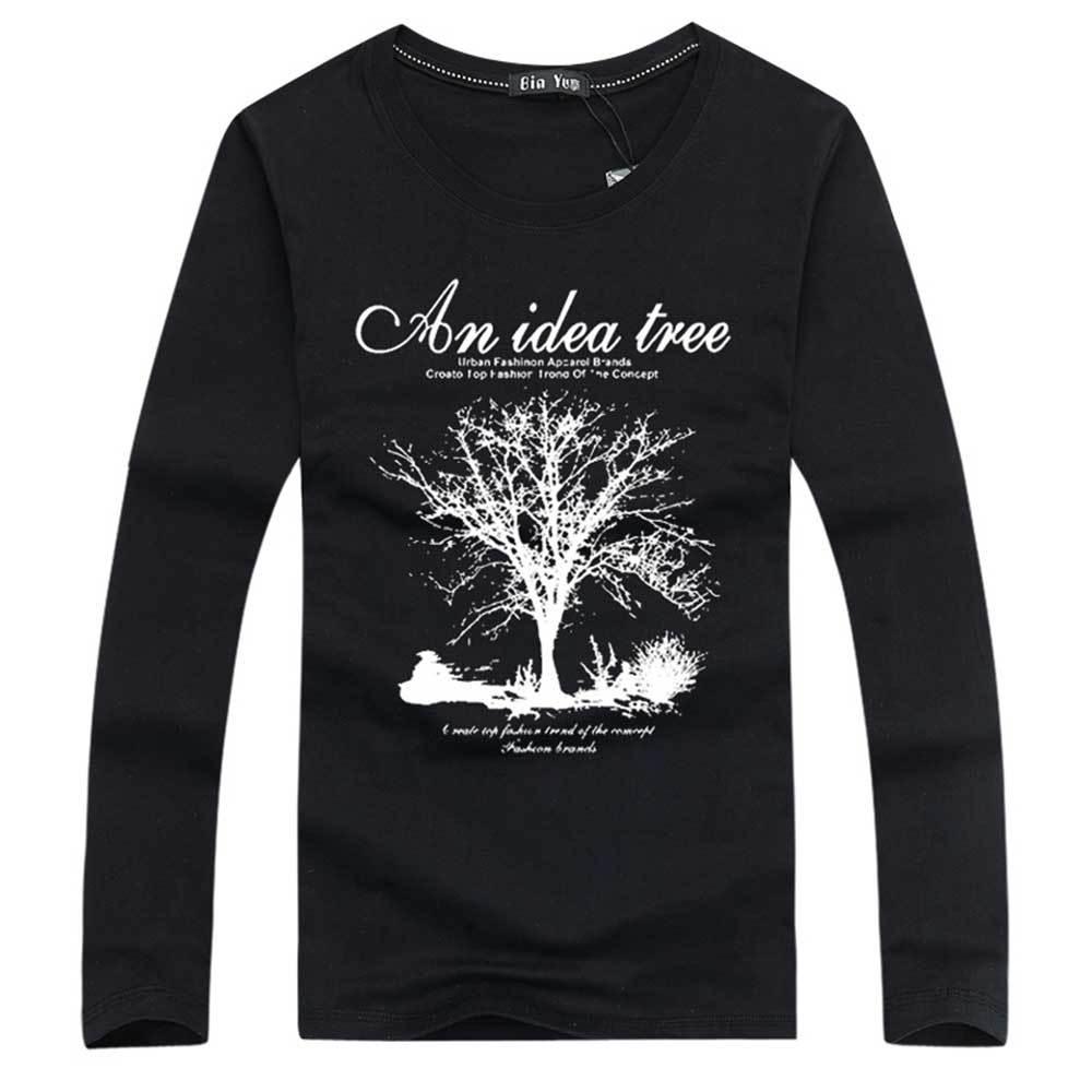 Shirt design of man - Aliexpress Com Buy Unique Design Idea Tree T Shirts Men O Neck Long Sleeve Mens T Shirt Cotton Man Tshirt Tops Hot Sale From Reliable Shirt Usb Suppliers