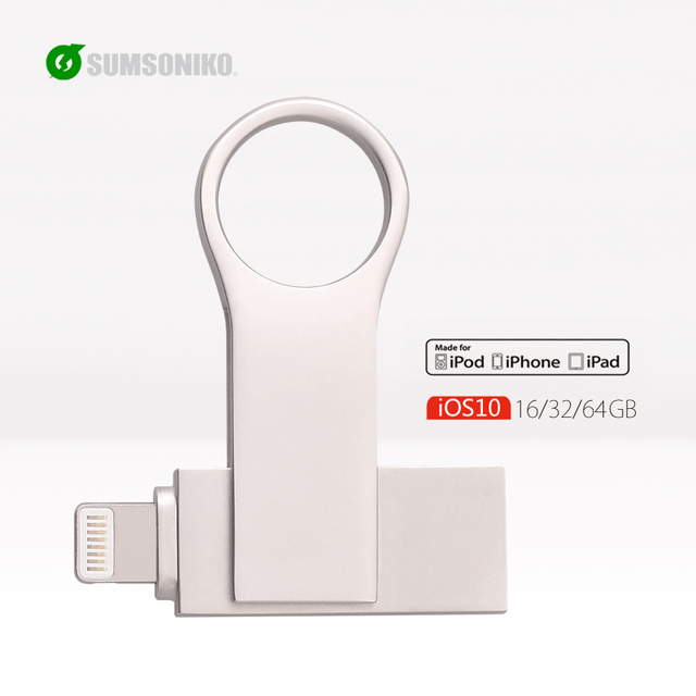 SUMSONIKO 2 en 1 128 GB 64 GB 32 GB 16 GB USB otg iflash drive hd de metal unidad flash usb para iphone ipod ipad pluma Dirive