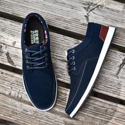 حذاء رجالي غير رسمي من الجلد من SUROM موضة جديدة لخريف وشتاء أحذية رياضية للرجال بدون كعب للكبار حذاء رجالي من جلد الغزال Krasovki