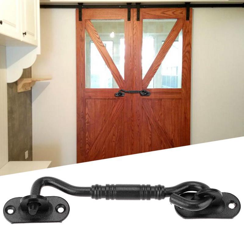 Door Cabin Hook Eye Latch Lock for Barn Shed Gate Door Catch Silent Holder 201 Stainless Steel Hook Door Lock cerradura puerta Door Locks     - title=