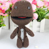Classic Toys 1pc Little Big Planet Soft Woolen Yarn Toys Dolls Brown Sackboy Sackgirl Sackosarus Stuffed