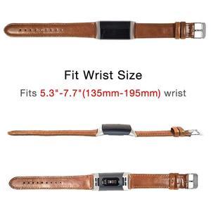 Image 4 - YOOSIDE Fitbit Şarj için 3 Hakiki Deri Band Kayışı Erkekler Wonwen Bileklik Fitbit Şarj için 3/Şarj 3 SE akıllı bilezik