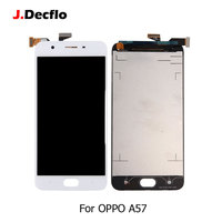 For OPPO A57 LCD Display 100% Tested Touch Screen Without Frame Digitizer Panel Replacement Parts Best Quality 5.2 Inch White