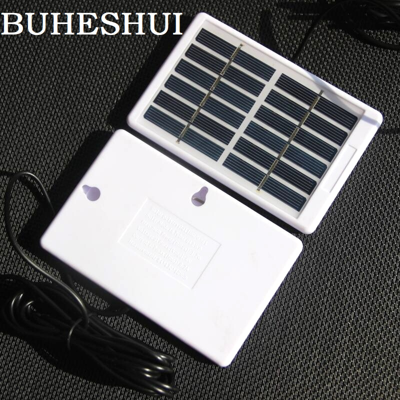BUHESHUI Polycrystalline Mini Solar Cell DC5521 Cable 1.2W 6V Solar Panel Charger For 3.7V Battery System Light 130*84*10MM 2pcs