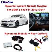 Liislee Original Screen Monitor Update For BMW 3 F30 F31 2013~2017 NBT System Reverse Module Rear View CameraDecoder Track Box
