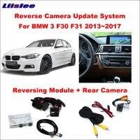 Otomobiller ve Motosikletler'ten Araç Kamerası'de Liislee orijinal ekran monitör güncelleme BMW 3 F30 F31 2013 ~ 2017 NBT sistemi ters modülü dikiz CameraDecoder parça kutusu