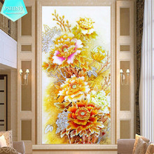 5D DIY Diamond Painting Cross Stitch  flowers Square Rhinestone Draw Diamond embroidery Mosaic Peony Pictures naiyue j626 2 two angels print draw 5d diamond painting diamond embroidery