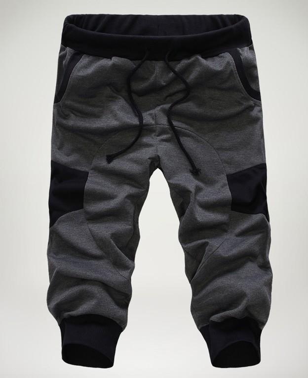 58777adbef Moda baggy Loose Casual Para Hombre Capri Recortada Pantalones ...
