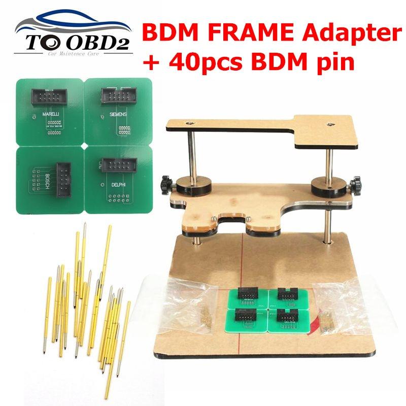 2019 Newest BDM Frame Pin 40pcs Needles, BDM FRAME Adapter+40pcs BDM Pin Work For BDM Frame Ktag K-tag Kess V2 ,BDM100 FGtech