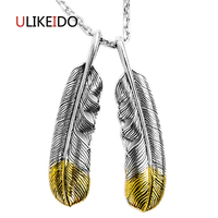 100 Pure 925 Sterling Silver Pendant Fashion Charms Necklace Takahashi Goros Eagle Feather Chain Jewelry Ring