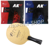 Palio ENERGY 06 Blade with Palio AK47 RED and AK47 BLUE Rubbers for a Racket Shakehand long handle FL
