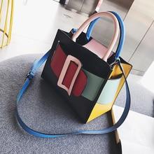 цены British Fashion Women's Designer Handbag New High quality PU Leather Women bag Lattice Chain Tote Shoulder Crossbody Bags