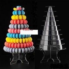 10 Tier Macaron Turm Stand Macaron Display mit Acryl Ständer Hochzeit Geburtstag Hause 2016 Weihnachten Kuchen Dessert Anzuzeigen platte