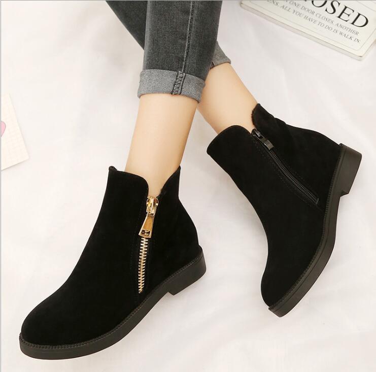 Effgt Felpa E Caliente Nueva Arenaceous La Mujer Otoño Moda Zapatos Botas Martin Negro V308 Tobillo Grind Cremallera Invierno rojo De ArZqA