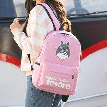 Anime Totoro Backpack 3D printing Cosplay computer Backpacks School Bags  for Teenager Girls Kawaii Mochila Feminina b39d71f1c5