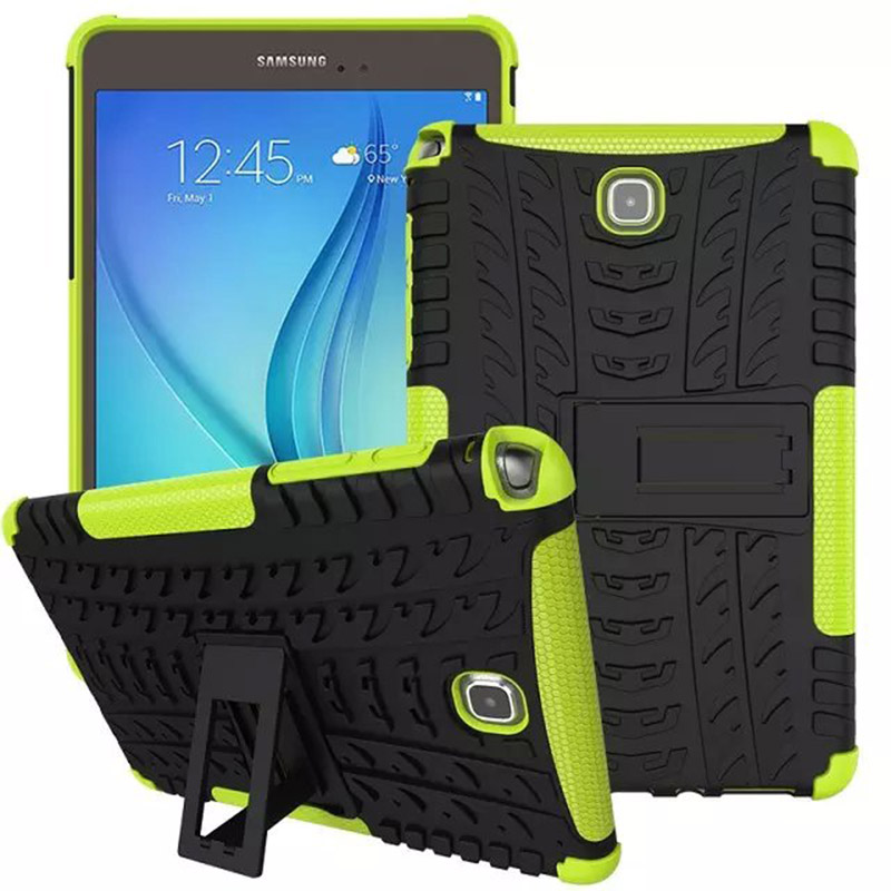 Silicone Hybrid Rugged Heavy Duty stand Cover Case For Samsung Galaxy Tab A 8.0 SM-T350 T351 T355 Tablet Accessories S4C14