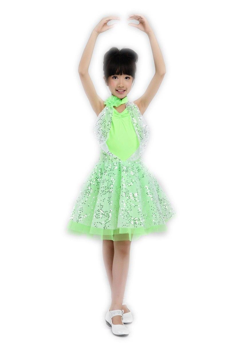 Child Dress Paillette Latin Dance Costume Female Performance Wear Dresss Ballet Dress for Children Professional Ballet Tutus