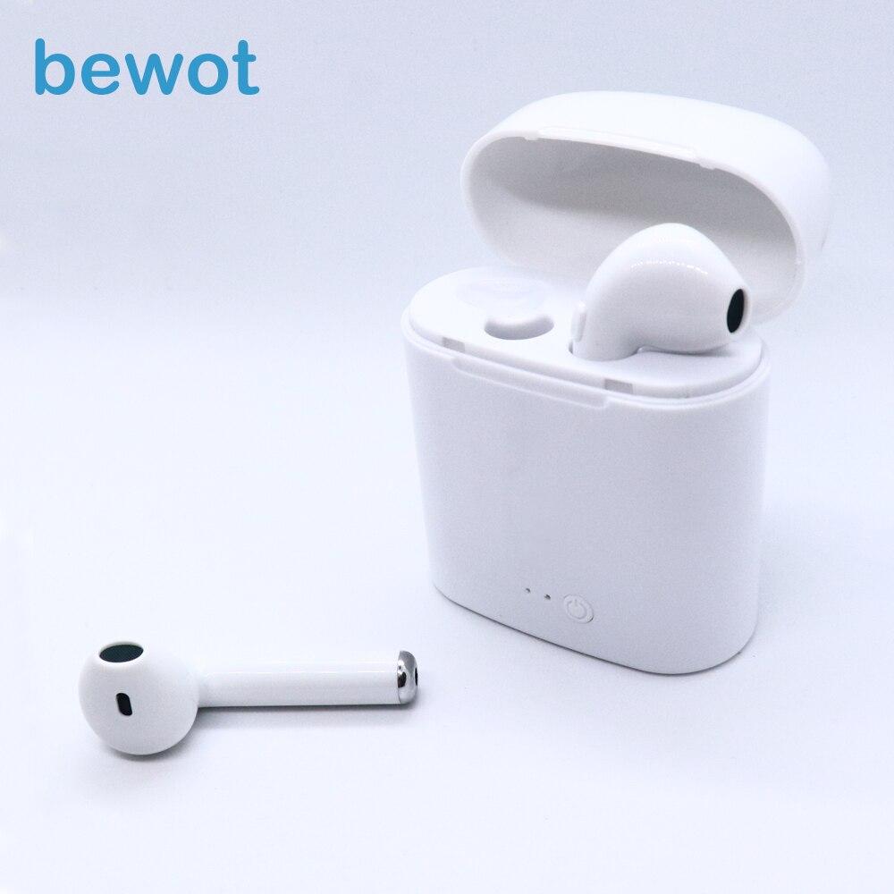Bewot TWS i7S Gemelli Cuffie Telefono Auricolare Bluetooth Auricolare Sport Auricolari Wireless Auricolari Stereo Auricolare Per Xiaomi