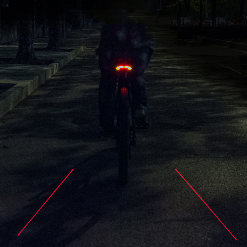 LED Seatpost, Tail Light Wireless  Safety Warning, Bike Waterproof Intelligent, Remote Control Rear, Lamp 5