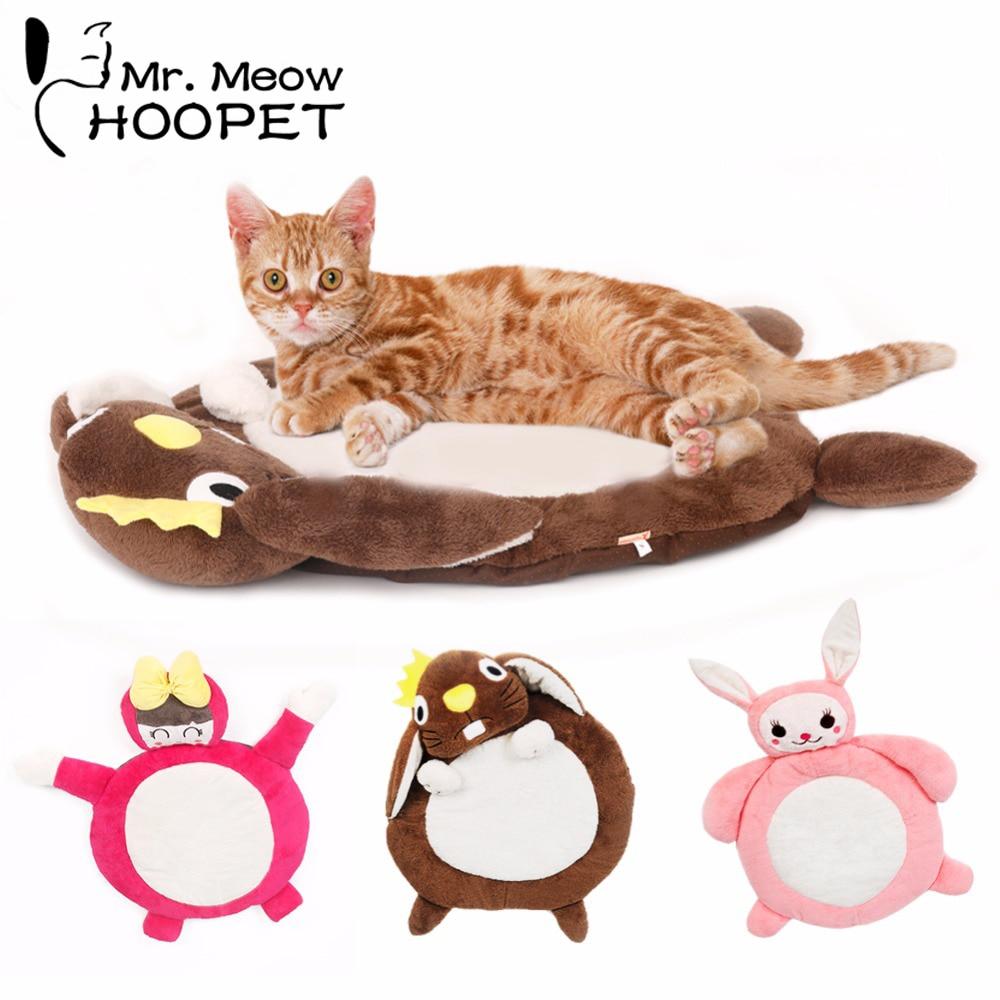 Gekwalificeerd Hoopet Mooie Cartoon Kat Pad Bolster Bed Mat Huis Hond Bed Warm Zacht Kussen Base Kitten Matras Goedkope Verkoop