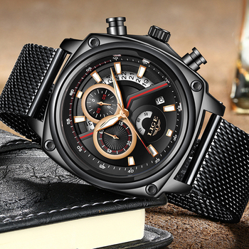 Mens Chronograph Watch | Relogio 2019 LIGE Mens Watches Top Brand Luxury Military Sport Watch Men Waterproof Clock Quartz WristWatch Relogio Masculino