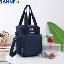 SANNE 9L New Design Fashion Frosted fabric Portable Multifunction lunch Bag Thermal Food Insulated Lunch Bags Cooler Box