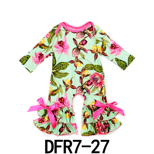 4bd9478a8134 Autumn winter Boutique Baby Rompers Flutter Sleeve Sleepsuit ...