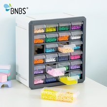BNBS Makeup Organizer Storage Box For Toys Tools Can Adjust Plastic box Lroning Beads 24 Drawers Cosmetic Organizer