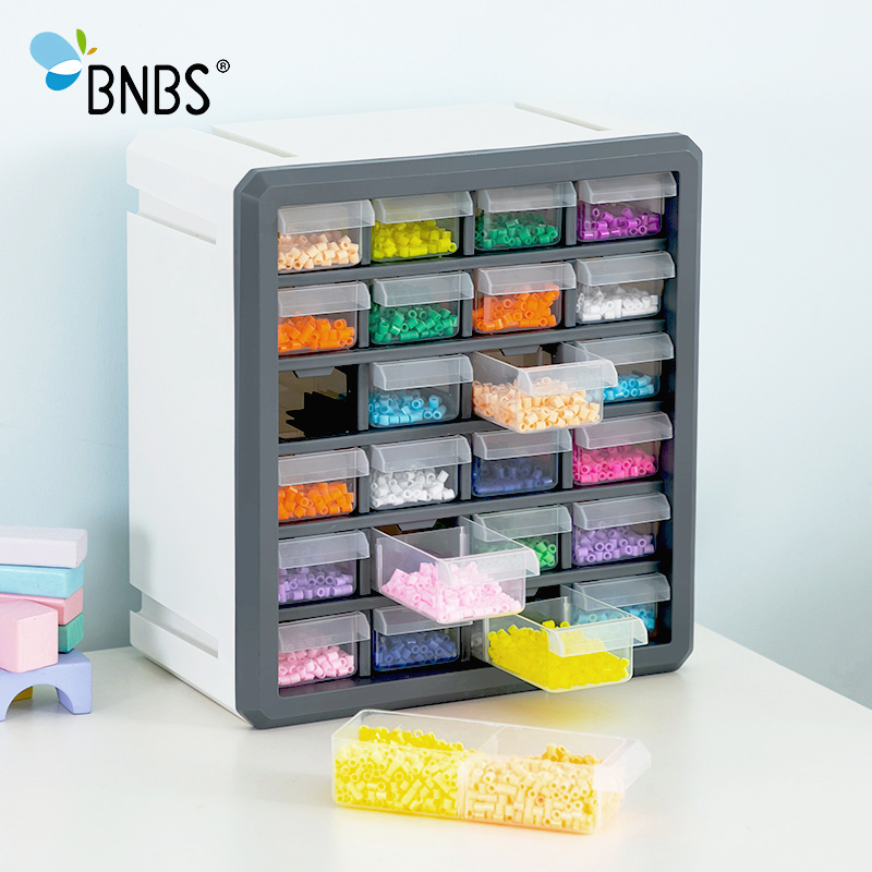 BNBS makeup organizer 24 drawers organizer Can Adjust plastic box Ironing Beads storage box for toys Tools