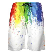 3D Print Men Swimming Shorts Quick Drying Beach Board