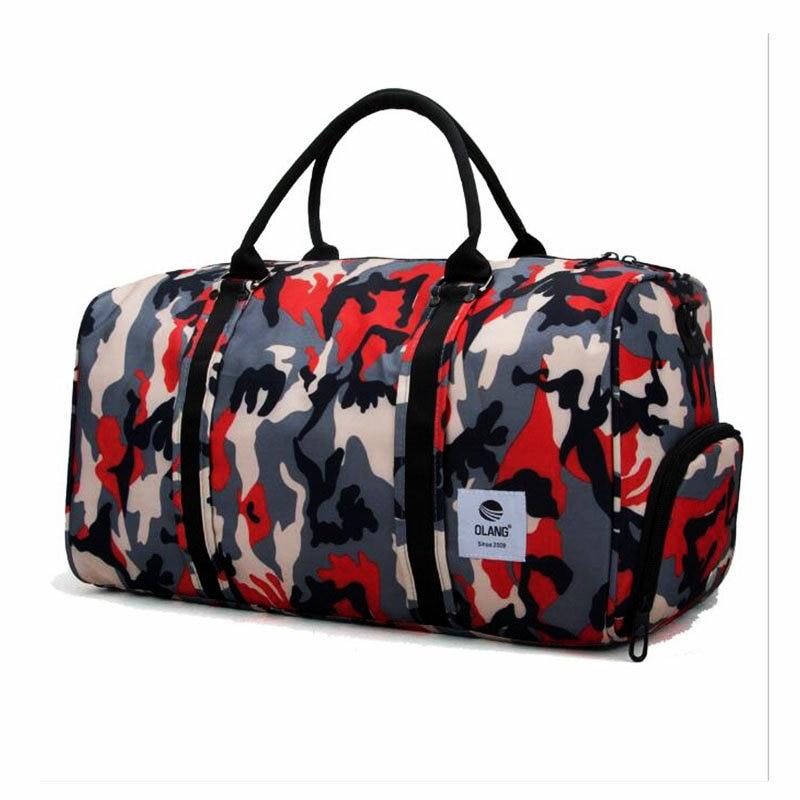 fcb43795d6a8 2018 Men Camouflage Gym Bag Lage capacity Storage Travel Handbag Waterproof  Oxford Luggage Bag Outdoor Sport Bags Women Yoga Bag