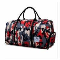 2019 Men Camouflage Gym Bag Lage capacity Storage Travel Handbag Waterproof Oxford Luggage Bag Outdoor Sport Bags Women Yoga Bag