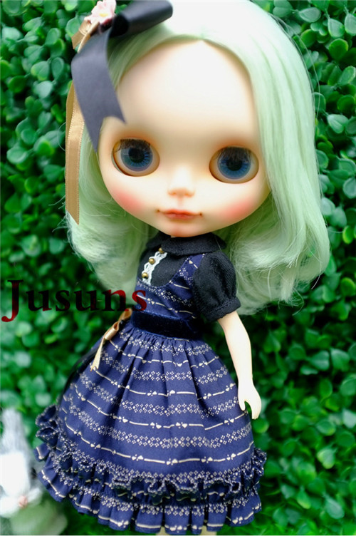 BJD doll clothes Japan doll clothes Azone doll suits  mint color dress  Free shipping tetiana tikhovska paper doll