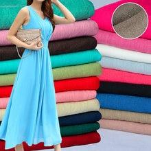 50x150 см однотонная мягкая льняная хлопковая ткань DIY Платье Халаты одежда ручная работа Лоскутная Ткань