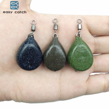 Easy Catch 3pcs Carp Fishing Flat Pear Leads Dark Camo Black Brown Green Muddy Smooth Casting Pear Lead Weights With Swivel