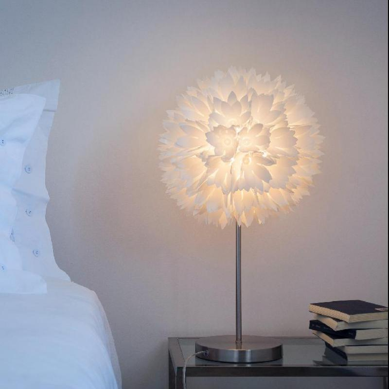 modern white snowball table desk Lamp Lights for reading room Princess Bedside study Table Light Nordic Wedding standing light|table light|light for table|desk reading light - title=