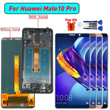 OLED Huawei Mate 10 Pro için ekran LCD ekran Digitizer meclisi için Mate 10 Pro BLA L09 BLA L29 BLA AL00 ekran modülü ekran