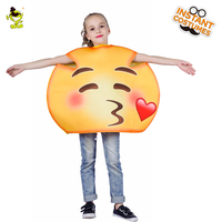 Girls Kiss funny emoji costumes kids Children fancy mascot Christmas halloween cute face cosplay costume suit for role paly
