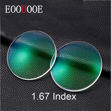 EOOUOOE 1.67 Index Resin Aspheric Glasses Myopia Hyperopia Presbyopia Eyeglasses Transpar Lente Gafas Prescription Lenses