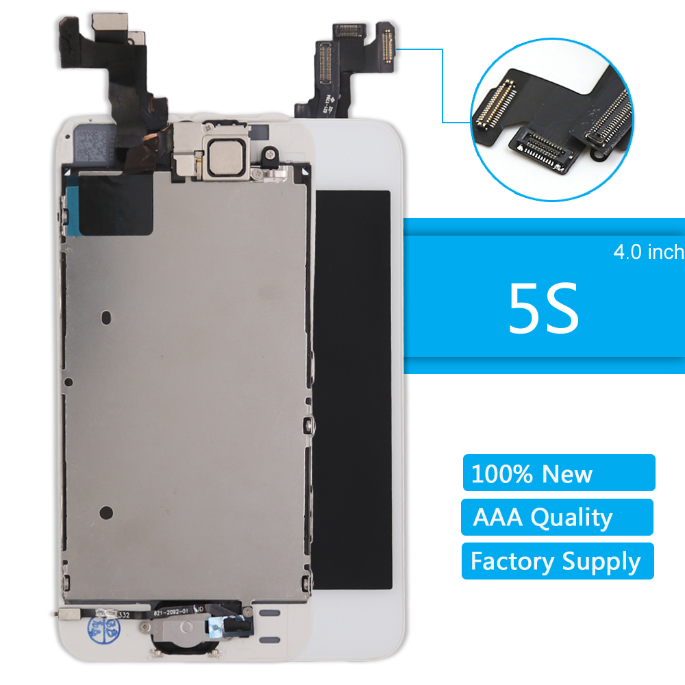 For Apple IPhone 5S LCD Display AAA Quality LCD Touch Screen Digitizer Full Assembly For IPhone 5S Screen Replacement Repair